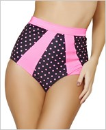 High-Waisted Pinup Style Shorts  RC-SH3120-Black/Pink