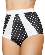 High-Waisted Pinup Style Shorts  RC-SH3120-Black/White
