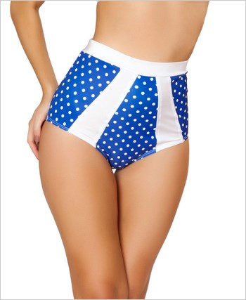 High-Waisted Pinup Style Shorts  RC-SH3120-Blue/White