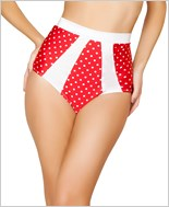 High-Waisted Pinup Style Shorts  RC-SH3120-Red/White