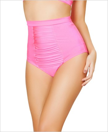 Scrunch Front Shorts with Band  RC-SH3122-Hot Pink