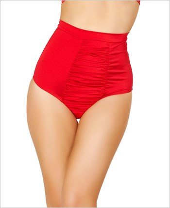 Scrunch Front Shorts with Band  RC-SH3122-Red