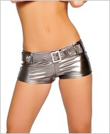 Roma® Metallic Short With Belt RC-SHLQ223