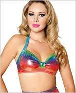 Halter Top  RC-T3059-Rainbow