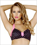 Halter Top  RC-T3090-Black/Pink