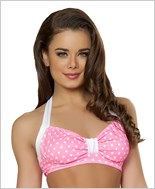 Halter Top  RC-T3090-Pink/White