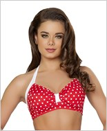 Halter Top  RC-T3090-Red/White