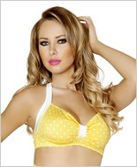 Halter Top  RC-T3090-Yellow/White