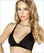 Banded Halter Top  RC-T3108-Black
