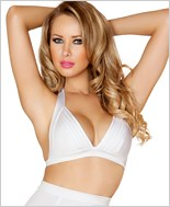 Banded Halter Top  RC-T3108-White