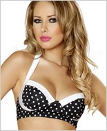 Pinup Style Halter Bra Top  RC-T3121-Black/White