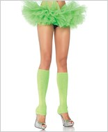 Neon Green Ribbed Leg Warmers La-3921-Neon-Green