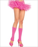 Neon Pink Ribbed Leg Warmers La-3921-Neon-Pink