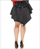 Plus Size Satin Burlesque Skirt La-86545Q