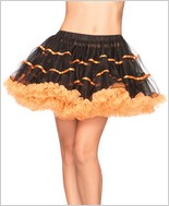 Layered Satin Striped Tulle Petticoat LA-A1711BO