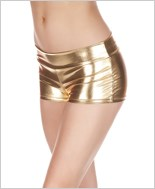 Gold Banded Metallic Shorts ML-141-Gold