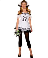 Music Legs Corpse Bride Sexy Adult Costume ML-70205
