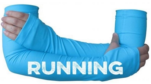 RUNNING text arm warmer