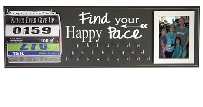 Medal holder - find your happy pace graphic