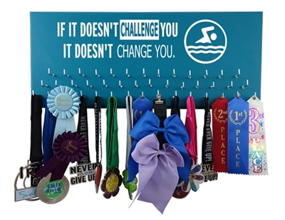 Swim medal Holder Swimming on the wall com