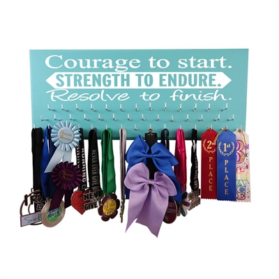 Courage, Strength, Resolve - Medal display rack