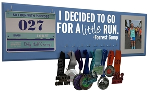 Decided to go for a little run - medal hanger & race bib display