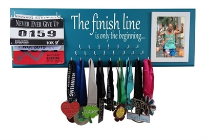 The finish line is only the beginning - running medal holder