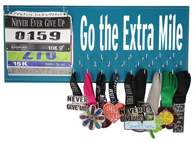 medals display - Go the extra mile