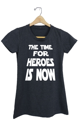 The Time for Heroes is Now T-Shirt for Boys and Girls