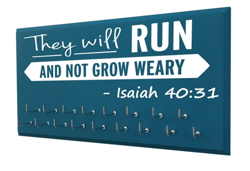 They will run and not grow weary - Isaiah 40:31 - medals display