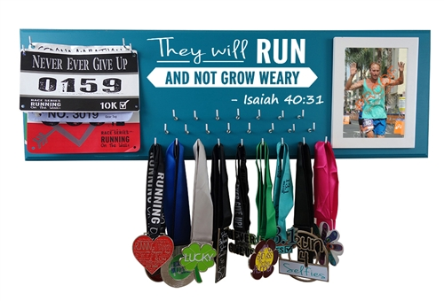they will run and not grow weary inspirational medals display