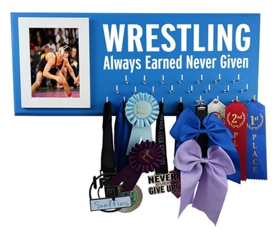 Wrestling medals display - WRESTLING always earned