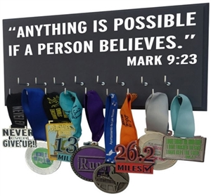 inspirational medals display rack - Mark 9:23