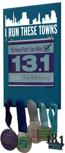 I run this town race bibs display
