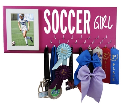 Soccer girl medals display - SOCCER Girl