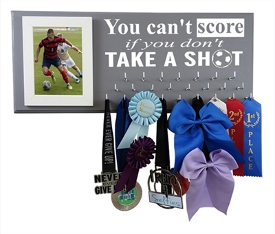 Soccer medals display ribbons awards holder hanger rack