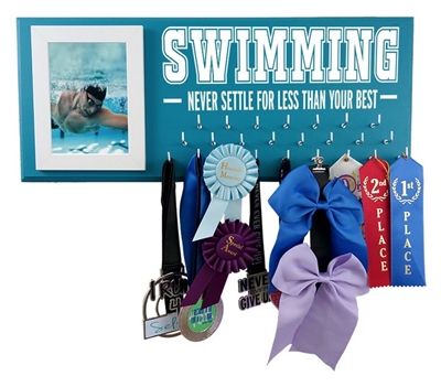 Swimming ribbons display - Never settle for less than your best