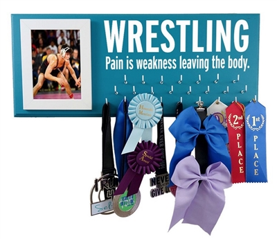 Wrestling medals display - WRESTLING PAIN
