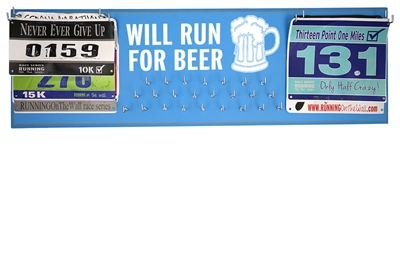Running gifts - medals holder - run for beer