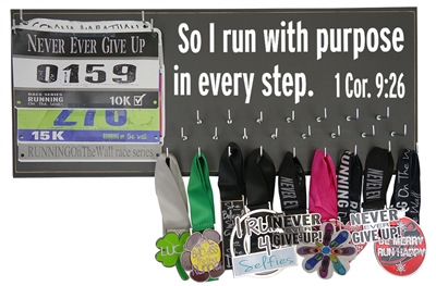 I run with purpose - medal display rack