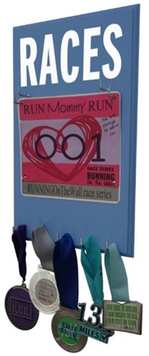 Running race bibs display for men Races