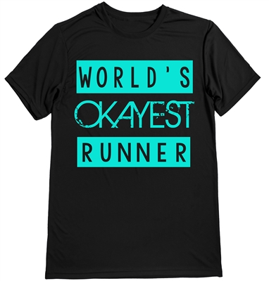 world's okayest runner shirt for men
