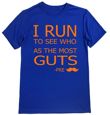 Men's Running Shirt - Runner shoe print