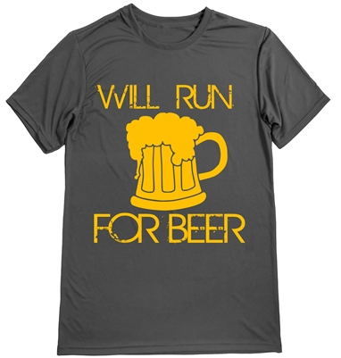Will run for beer - running shirt for men