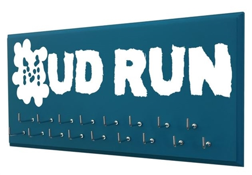 Mud races graphic - medal holder