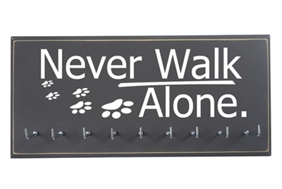 NEVER WALK ALONE - Dog paw print - Accessories Holder