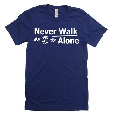 walk alone dog shirt tee