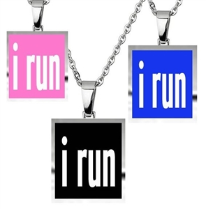 I run - 3 charm necklace