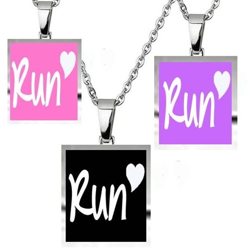 Run heart - 3 charm necklace