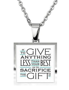 Steve Prefontaine quote runner's necklace